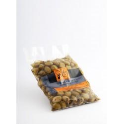 Poche 200g Olives vertes cassées Basilic et Ail