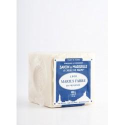 Savon de Marseille blanc à l'huile végétale 400g