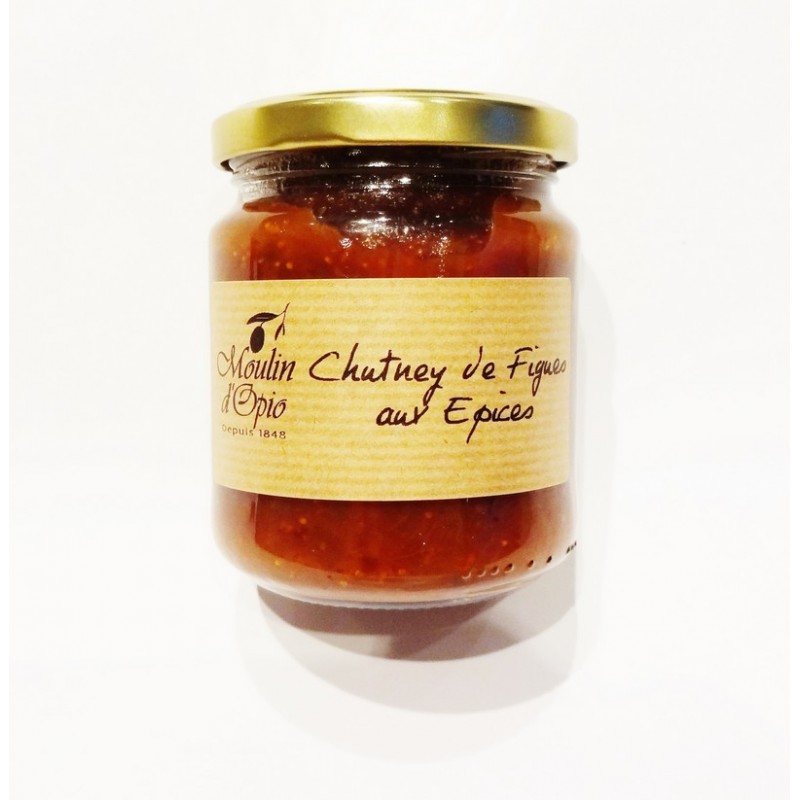 chutney de figues aux pices 220g moulin d 39 opio. Black Bedroom Furniture Sets. Home Design Ideas