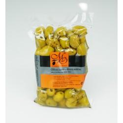 Poche 200g Olives vertes cassées Pimentées