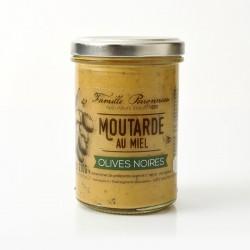 Pot 210g Moutarde aux olives noires et au Miel