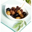Mixed prepared olives