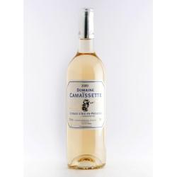 White wine Vineyard of Camaissette Glass bottle of 75 cl