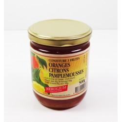 Pot 500g Confiture 3 Fruits Orange/Citron/Pamplemousse