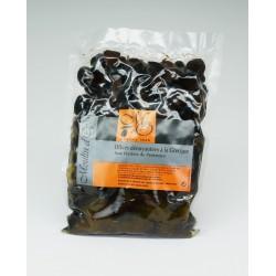 Poche 500g Olives noires à la grecque huile et herbes de Provence
