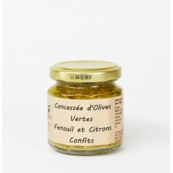 Concassé olives vertes fenoul citron