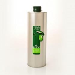 Bidon 50cl Huile d'olive basilic & ail