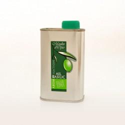 Bidon 25cl Huile d'olive basilic & ail