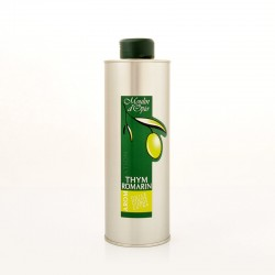 Bidon 50cl Huile d'olive au Thym et Romarin