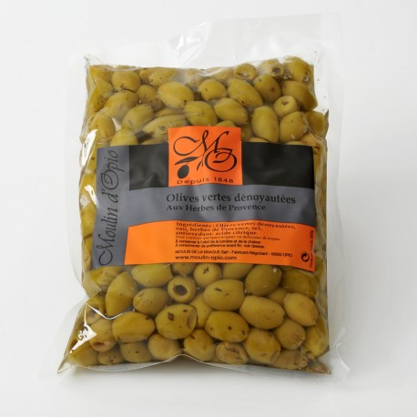 Poche 200g Olives vertes dénoyautées