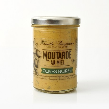 Mustard with black olives and Honey 200 g